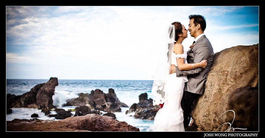 Ho'okipa Beach Park Destination Wedding, Maui Hawaii - Wedding Pictures by Destination Wedding Photographer Josh Wong Photography