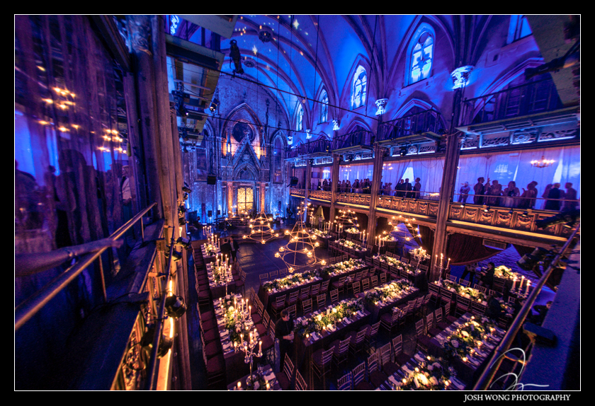 A view from the balcony of Angel Orensanz. Wedding pictures provided by Josh Wong Photography