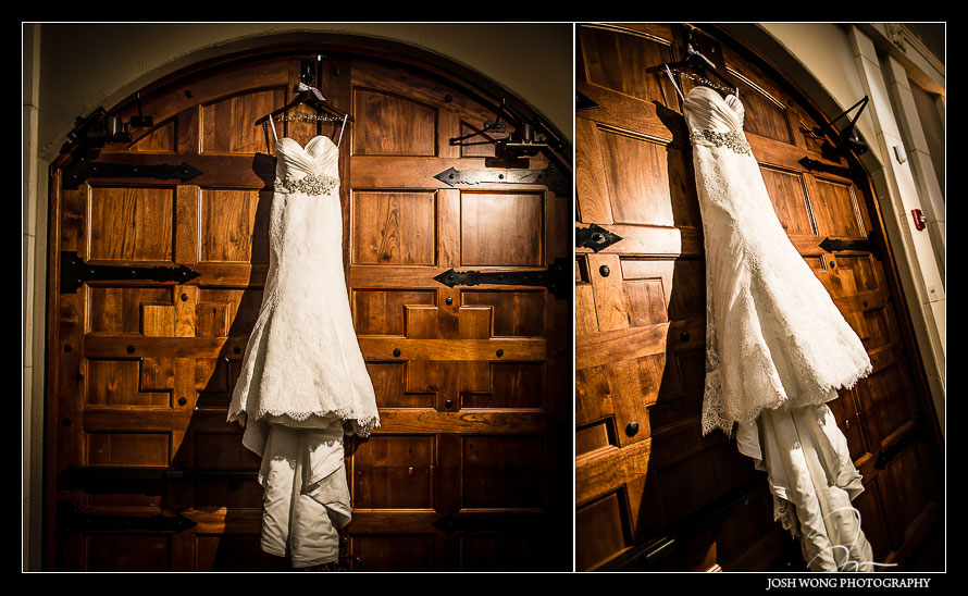 Allure Wedding Dress - A magnificent wedding at Casa Real at Ruby Hill Winery, Pleasanton, Ca. Wedding pictures by San Francisco wedding photographer Josh Wong Photography