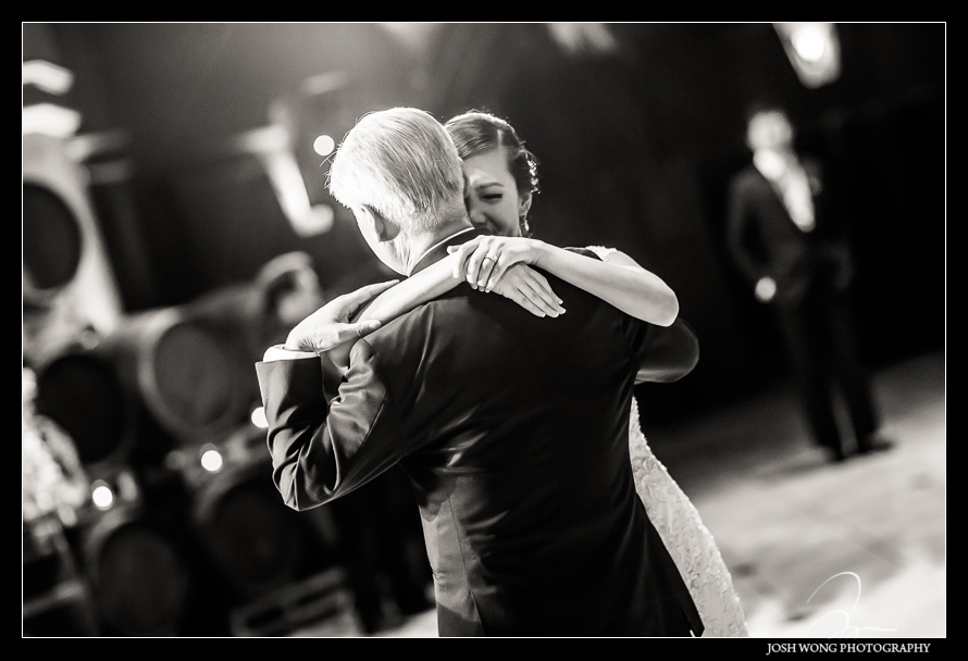 The father-daughter dance - The Palm Events Center Wedding in Pleasanton, CA - wedding pictures by Josh Wong Photography