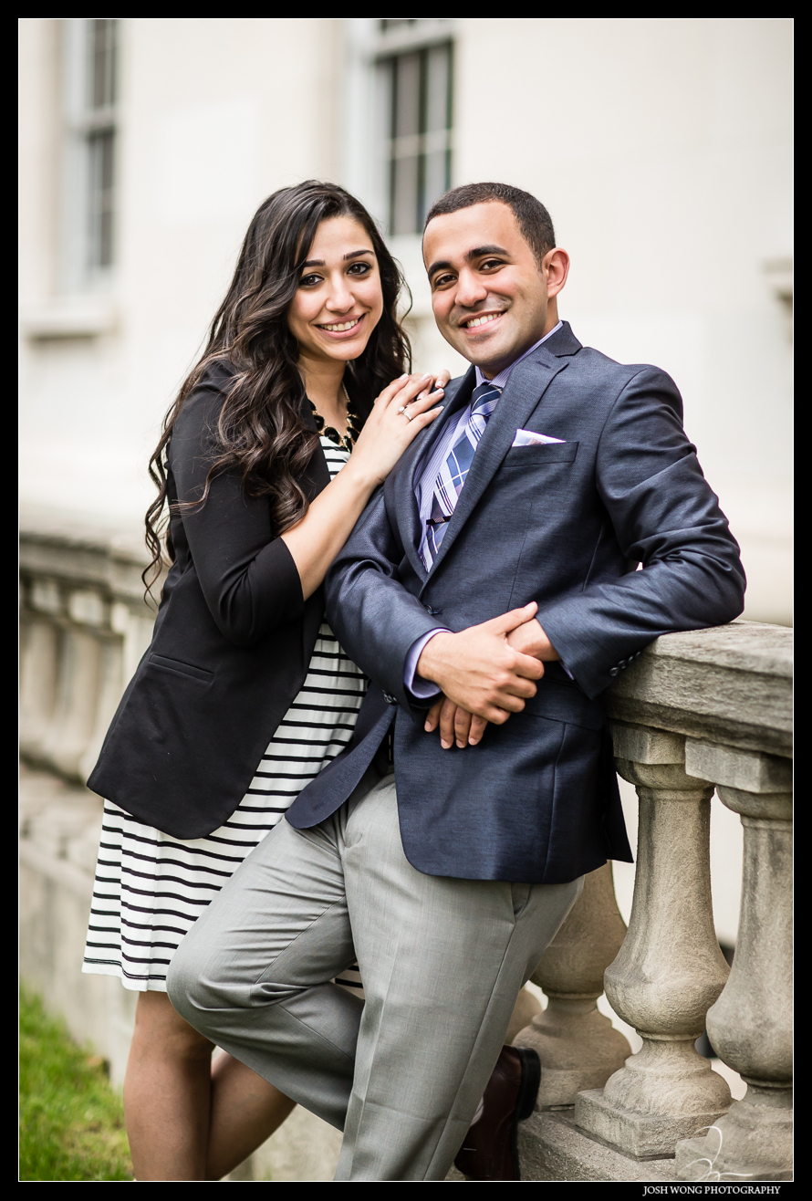 Christina and Anthony outside of the New Jersey courthouse after the marriage proposal. Anthony's surprise wedding and marriage proposal to Christina in a Mock Courtroom Trial.