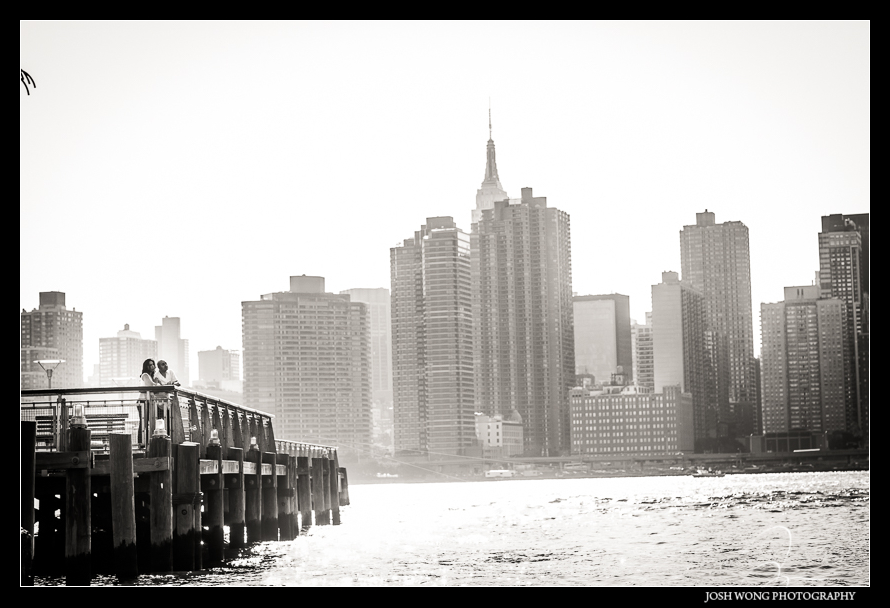 New York Engagement Shoot - Long Island City and DUMBO Brooklyn. engagement photography by Josh Wong Photography