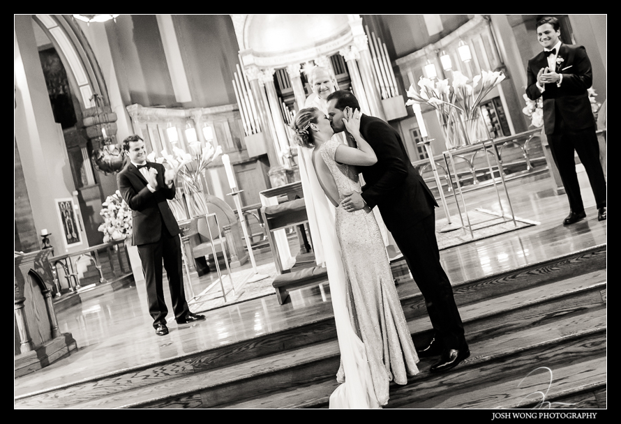 Church of St. Paul The Apostle Wedding in New York City Brazilian Wedding Pictures by Josh Wong Photography