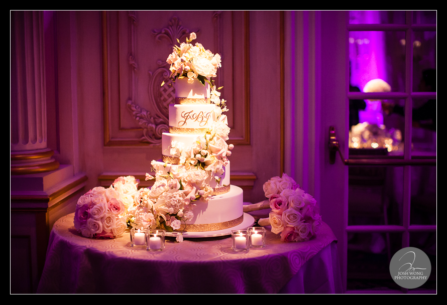 The wedding cake. JW Marriott Essex House wedding pictures and photos provided by Josh Wong Photography, NYC