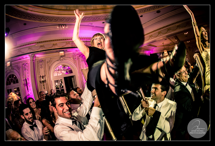 Dancing the night away at The first dance at JW Marriott Essex House. Wedding pictures and photos provided by Josh Wong Photography, NYC