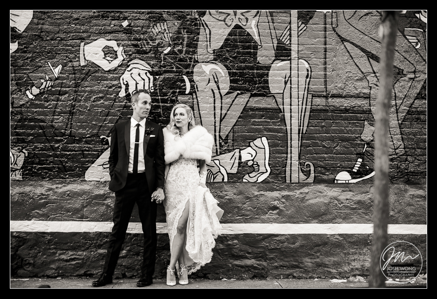 A Wythe Hotel Wedding. Pictures by Brooklyn Wedding Photographer Josh Wong Photography