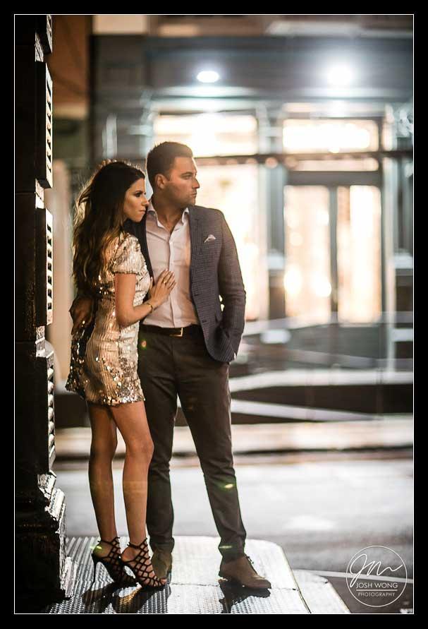 NoMo SoHo Hotel engagement pictures. Engagement pictures by NYC engagement and wedding photographer Josh Wong Photography