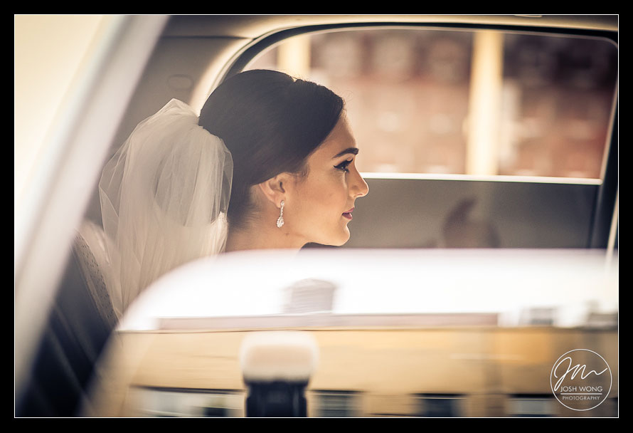 In the moment with the bride as she make her way to the church. New York Wedding pictures by Armenian wedding photographer Josh Wong Photography