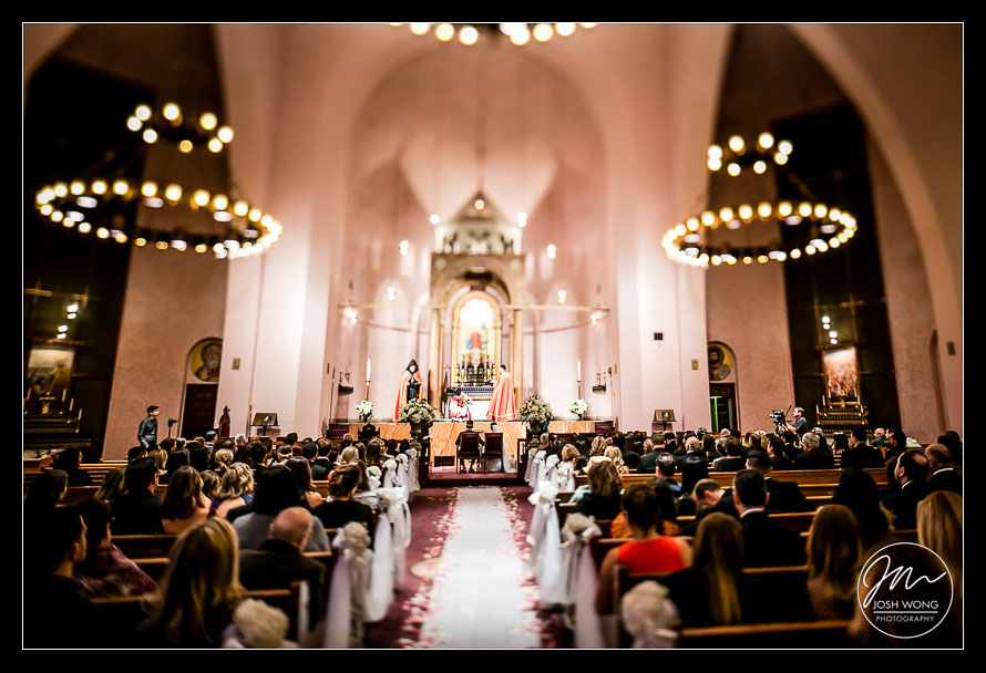 St. Vartan Cathedral wedding pictures and ceremony. New York Wedding pictures by Armenian wedding photographer Josh Wong Photography