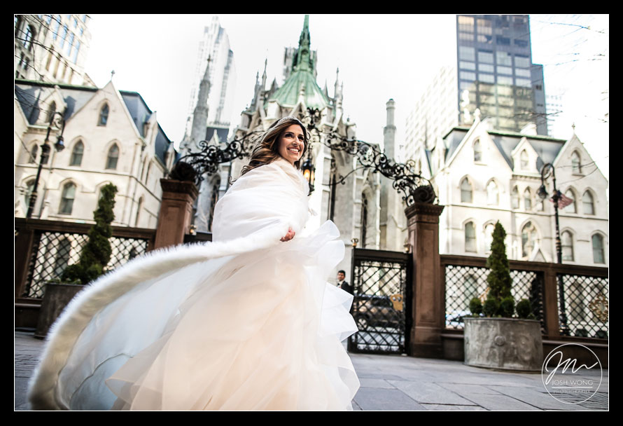 Lotte New York Palace Hotel Wedding love story.  NYC wedding pictures by Josh Wong Photography