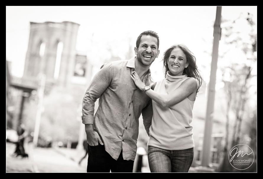 Brooklyn Bridge Dumbo Engagement Photo Shoot by Josh Wong Photography