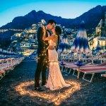 Evening photoshoot on the beaches of Positano Italy - Destination Wedding Photography