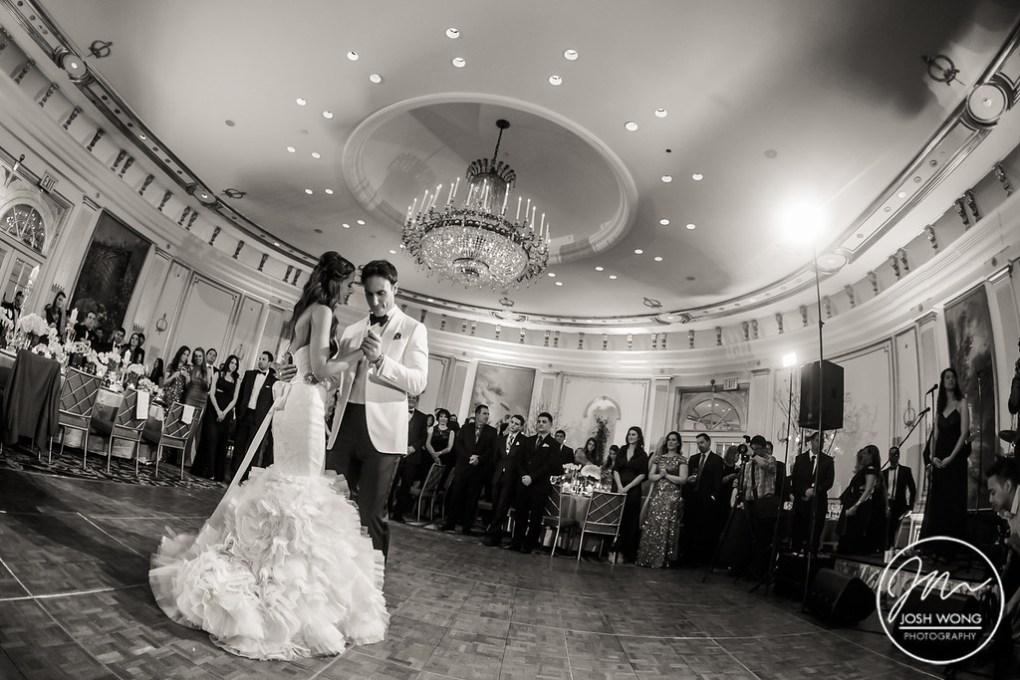 The first dance in the ballroom of the Lotte New York Palace Hotel