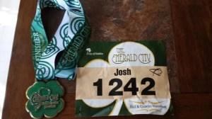 Emerald City Half Marathon 2013 Medal and Bib
