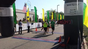 Crossing the finish line with my wife, Terri Zeigler