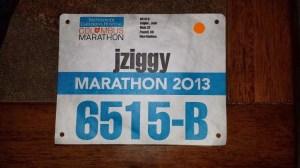 Columbus Marathon 2013 Bib