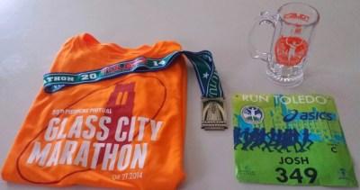 Glass City Marathon 2014 Memorabilia