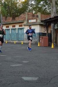 Josh Zeigler running through Animal Kingdom at the 2018 Disney World Marathon