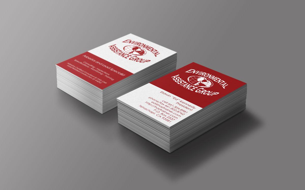 Eag business card design josia web developer graphic environmental assistance group business card design print colourmoves