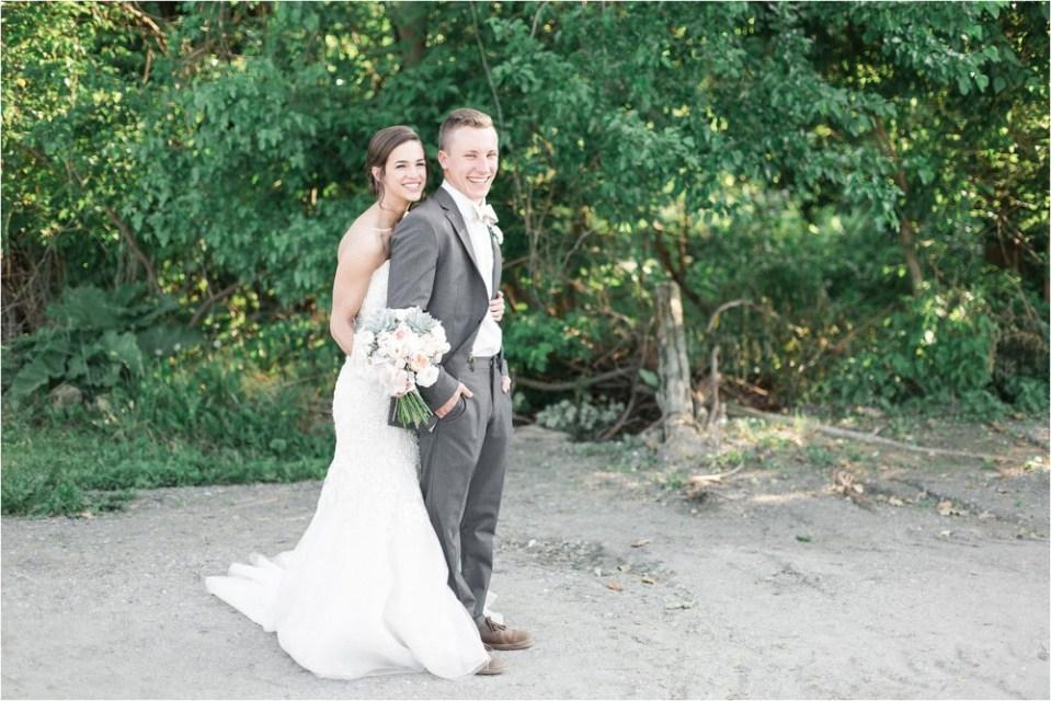 A Grey & Blush Backyard Wedding in Pilesgrove, NJ Photos