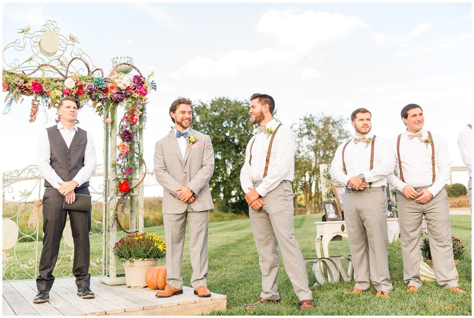 Cody & Hali's Boho Chic Barn Wedding at Thousand Acre Farms in Delaware Photos_0032.jpg