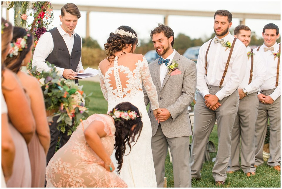 Cody & Hali's Boho Chic Barn Wedding at Thousand Acre Farms in Delaware Photos_0042.jpg