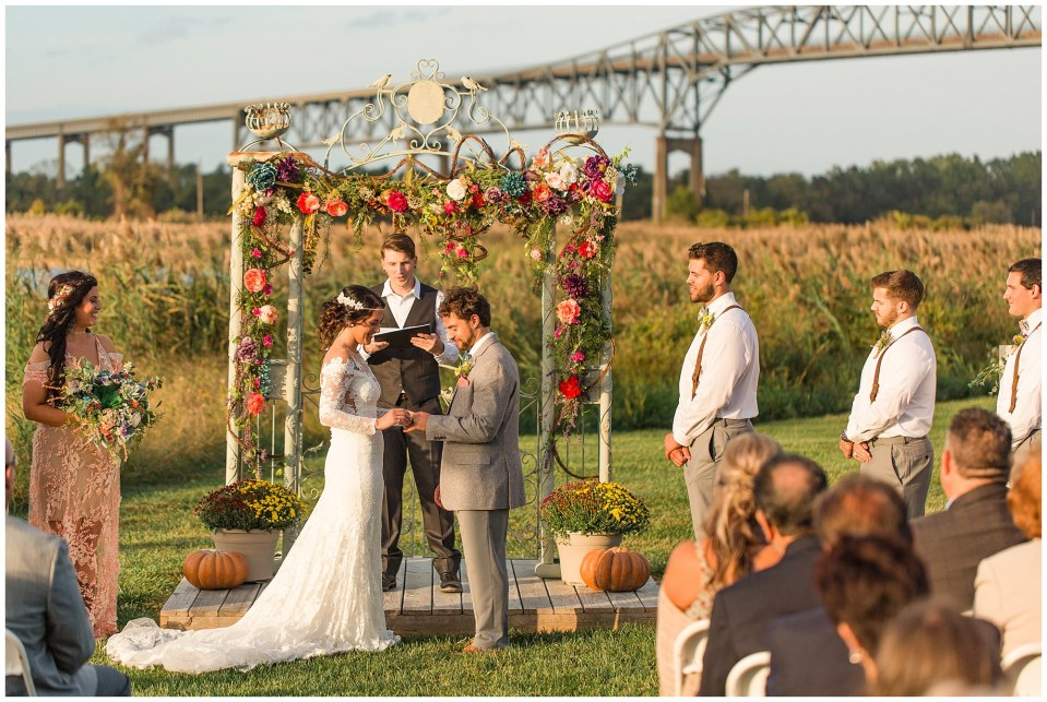 Cody & Hali's Boho Chic Barn Wedding at Thousand Acre Farms in Delaware Photos_0050.jpg