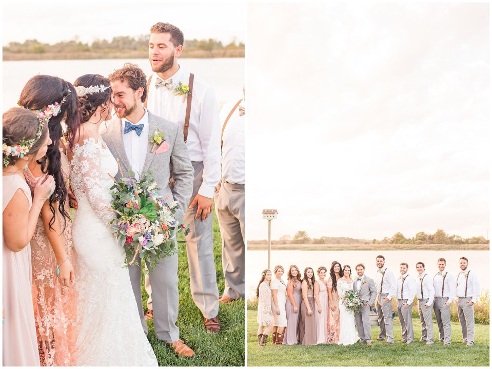 Cody & Hali's Boho Chic Barn Wedding at Thousand Acre Farms in Delaware Photos_0061.jpg