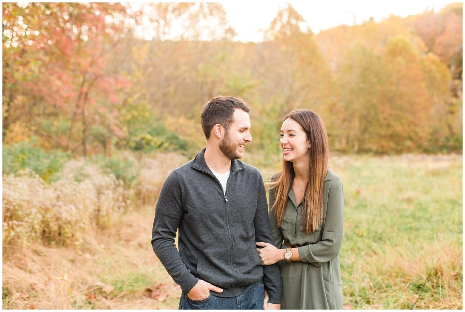 Mike & Jenny's Sunset Fall Engagement at Valley Forge Park and Philadner Chase Knox Estate Photos_0014.jpg