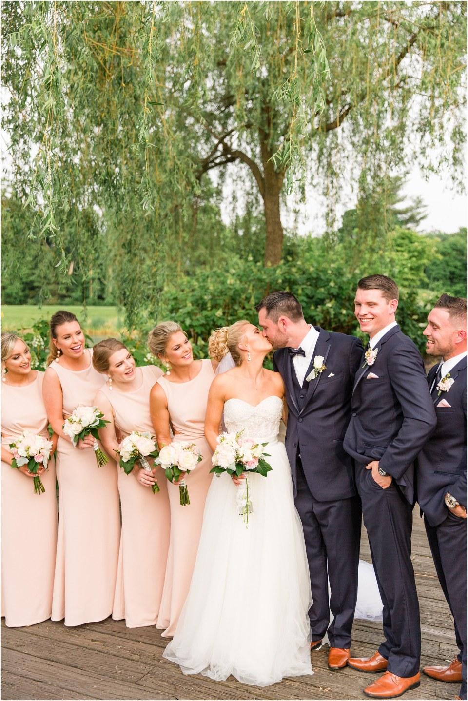 Donovan & Lauren's Navy & Blush Wedding at Talamore Country Club,