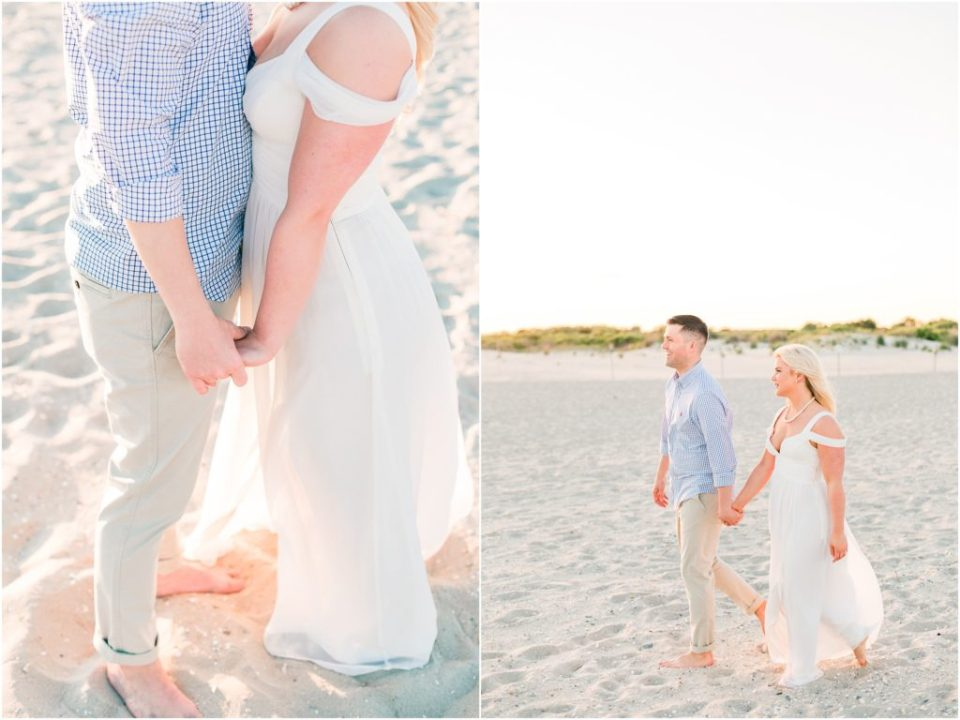Jim And Alyssa's Summertime Engagement Session in Cape May NJ Photos