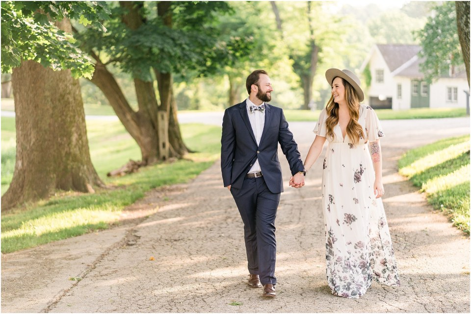 Ryan & Lauren's Boho-Chic Engagement Session at Valley Forge Park,