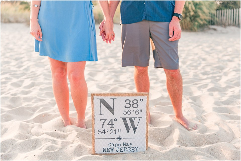 TJ & Erin's Cape May Beach Engagement Session Photos,
