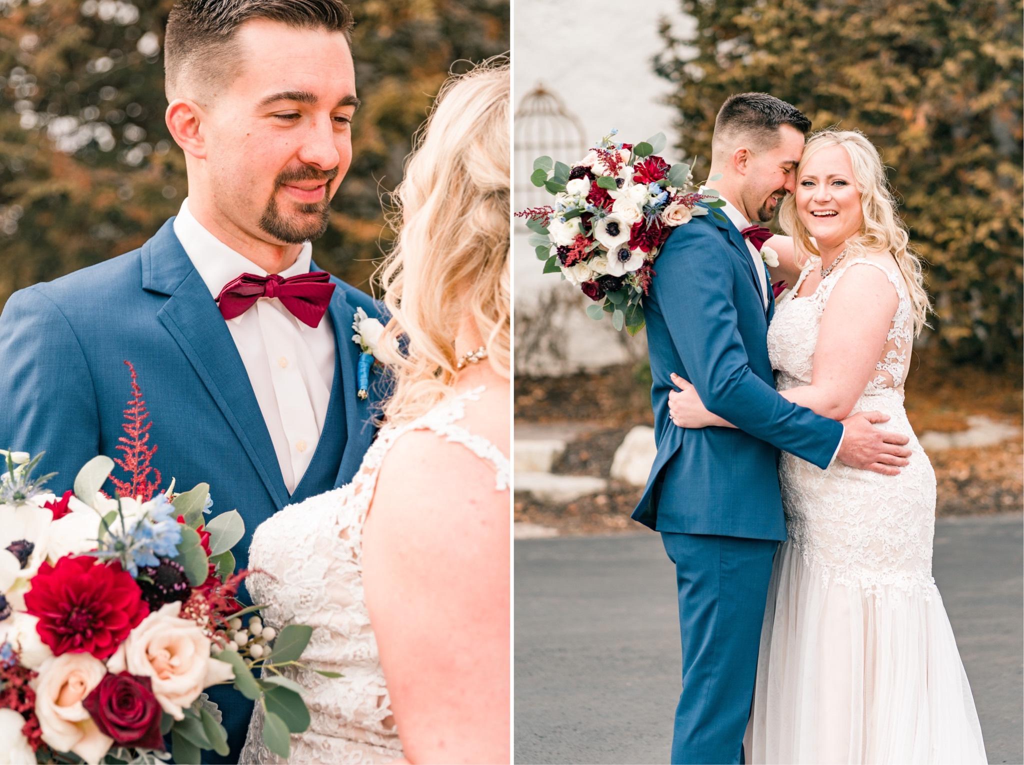 Steve & Casi Winter Wedding at The Barn on Bridge in Collegeville, PA Photos