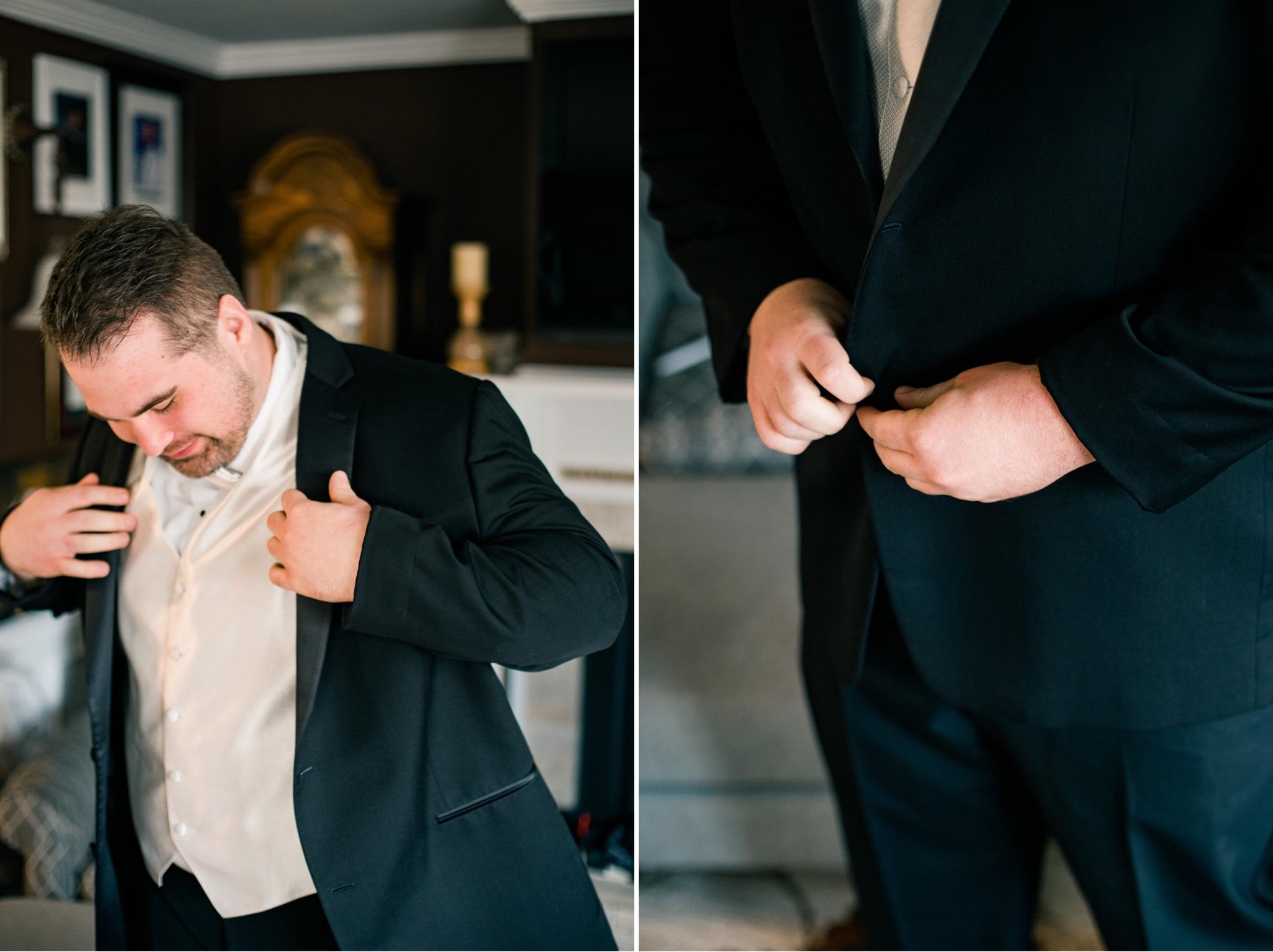 Groom Getting Ready Staten Island Wedding