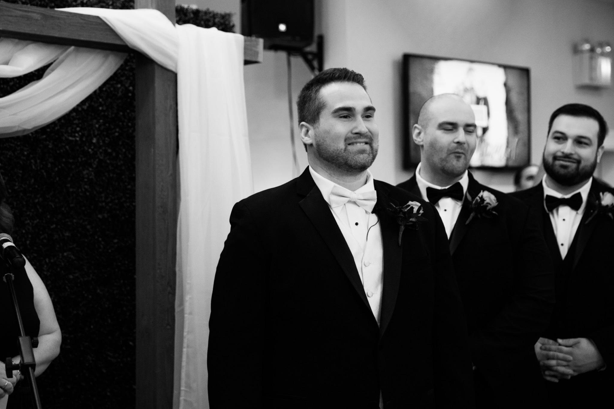 Groom Reaction Staten Island Wedding