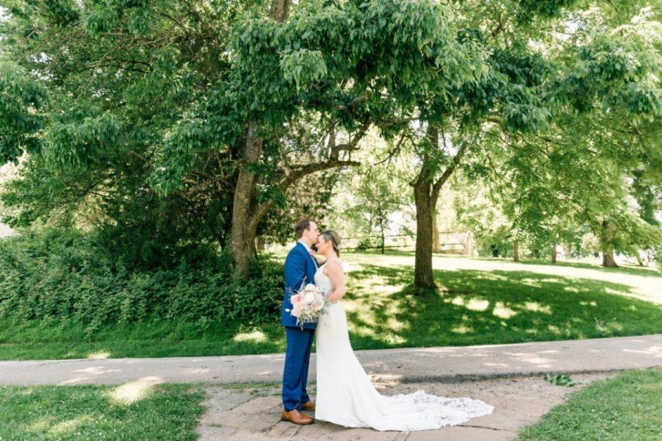 Bride and Groom Portraits at Philander Chase Knox Estate