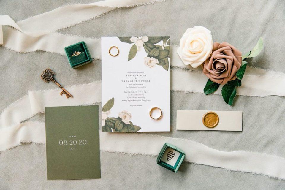 Wedding Invitations at Anthony Wayne House Photos