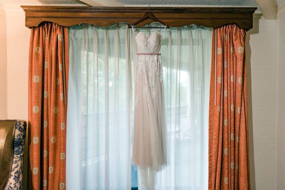 Wedding Dress Hanging at The Desmond Hotel Photos