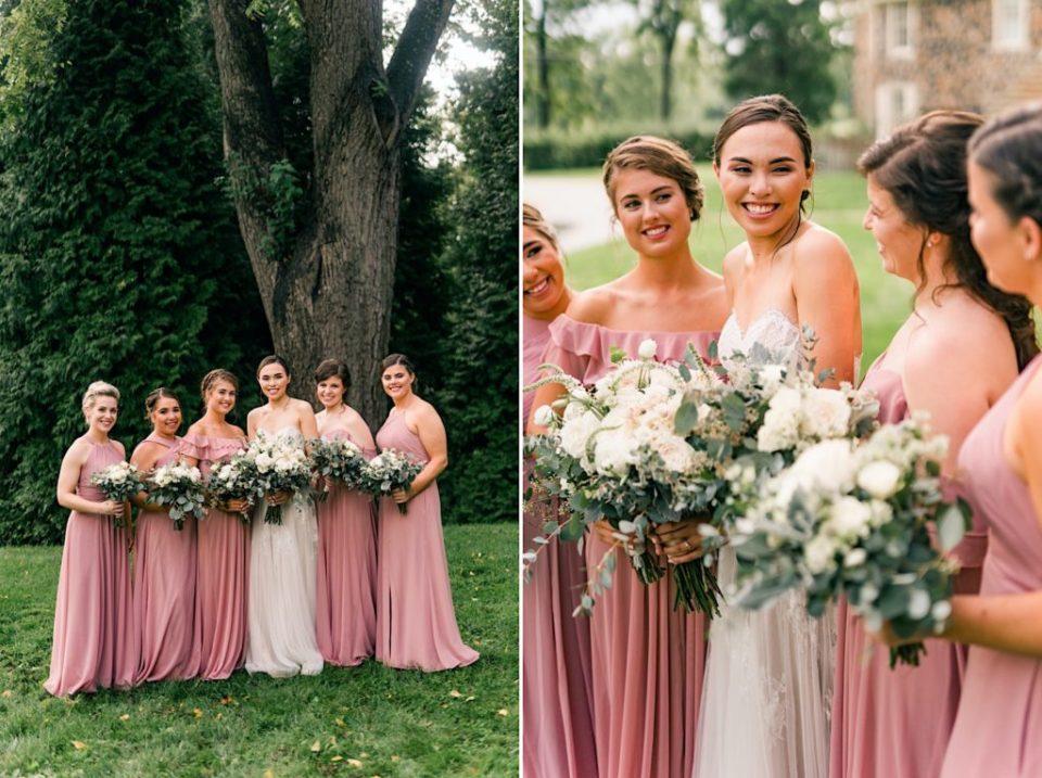 Bridesmaids at Anthony Wayne House Photos