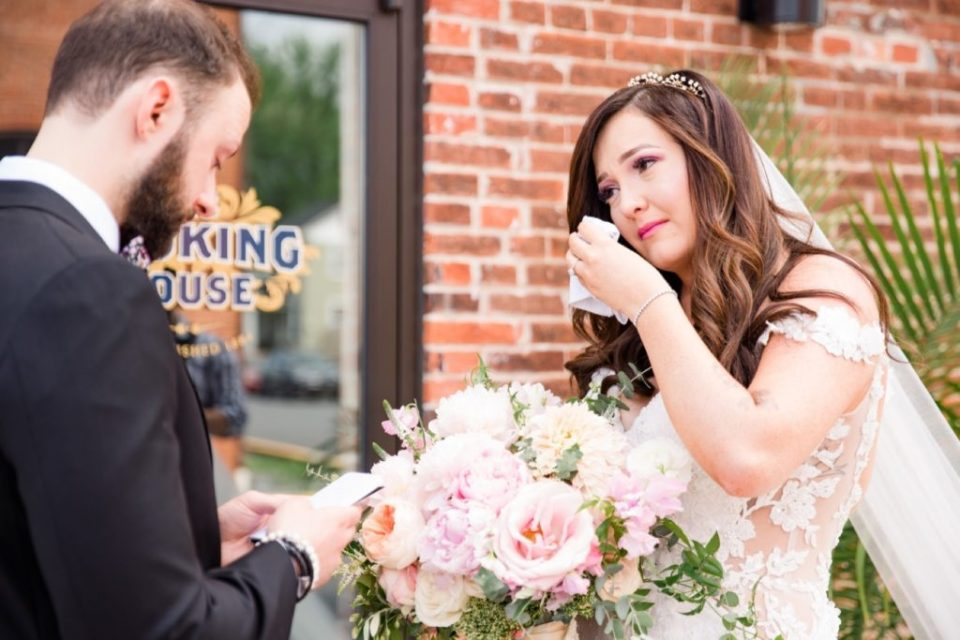 Vows during First Look at The Booking House