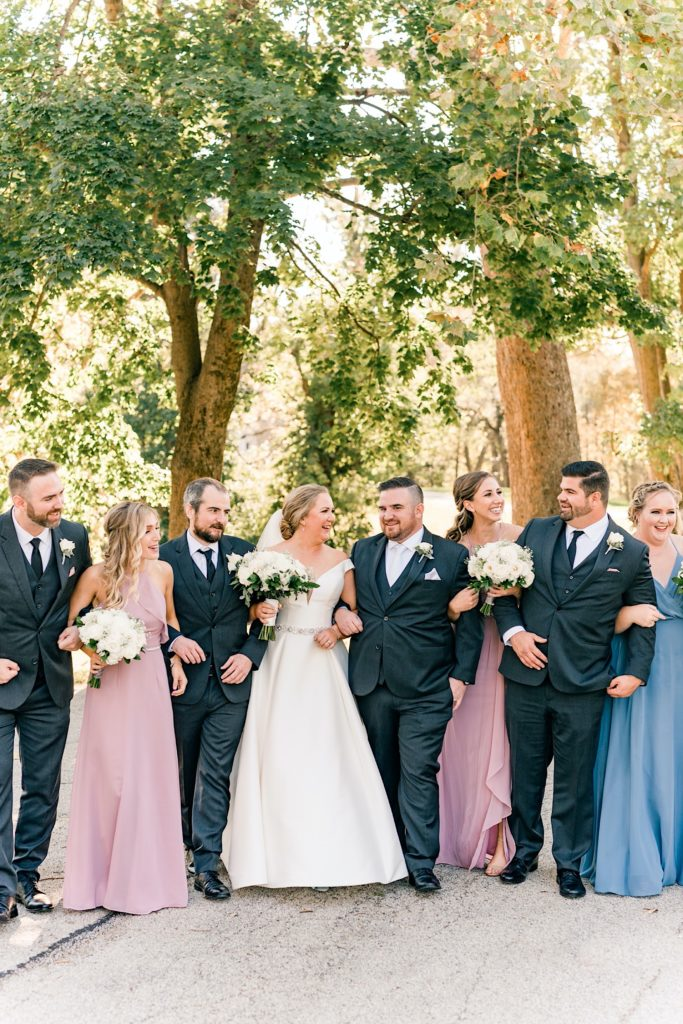 Backyard Wedding Valley Forge Bridal Party Photos