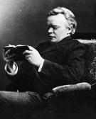 Josiah Royce, Candid photograph, Reading book, c42 years of age, 1895. (Photo by JHU Sheridan Libraries/Gado/Getty Images)