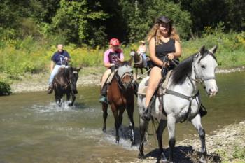 Horse ranch riding adventure