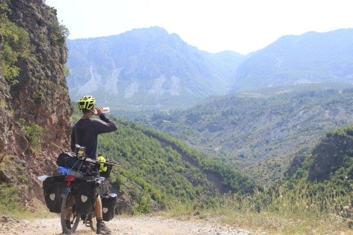 Taking the road less travelled bike touring adventure in Albania.