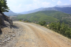 Taking the road less travelled bike touring in Albania.