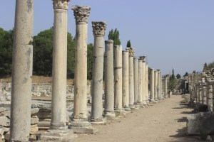 Ancient Ephesus rows of columns