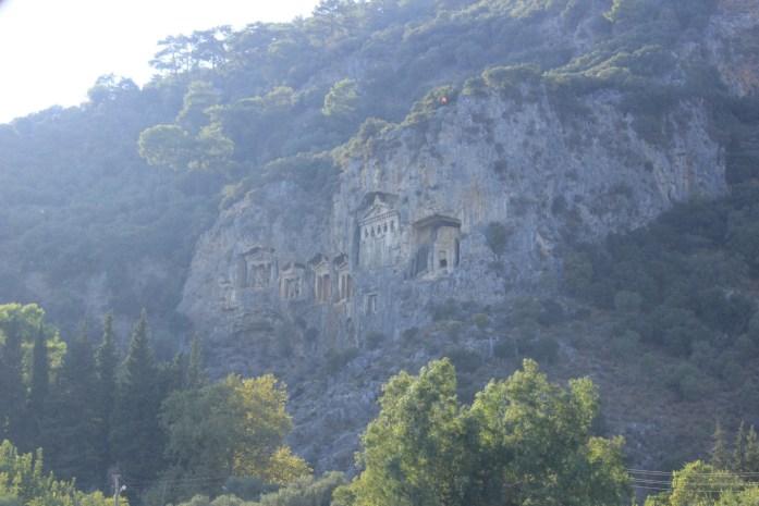 Dalyan rock tombs.