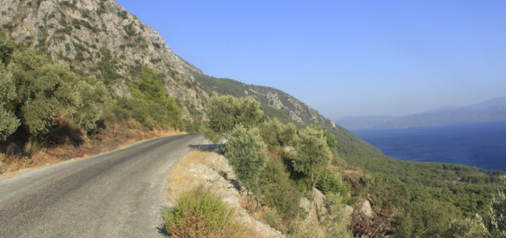 Cycling South-West Turkey coast.