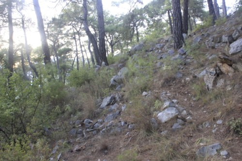 The path to Mount Chimaera near Olympos.